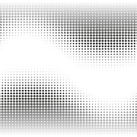 Black  and white abstract background with halftone effect waves