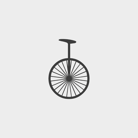 unicycle: Unicycle icon in a flat design in black color. Vector illustration eps10 Illustration