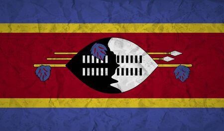 紙を丸めて、グランジの影響とスワジランドの国旗