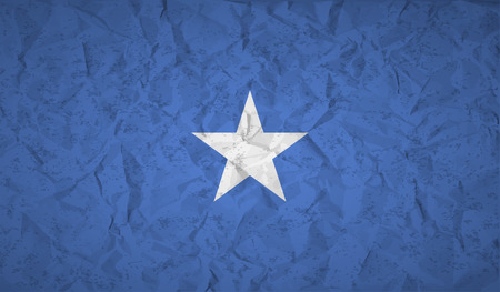 somalian culture: Somalia flag with the effect of crumpled paper and grunge