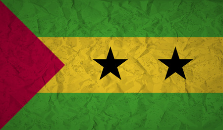 bad condition: Sao Tome and Principe with the effect of crumpled paper and grunge
