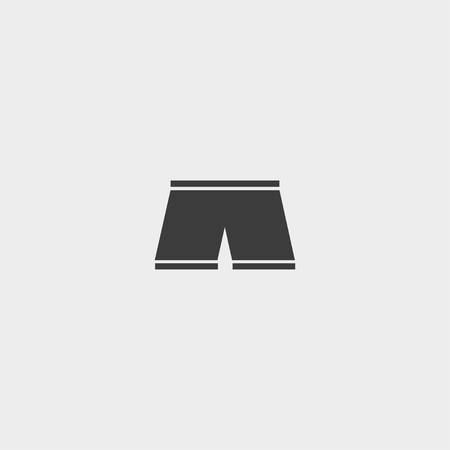 fashionably: Shorts icon in a flat design in black color. Illustration