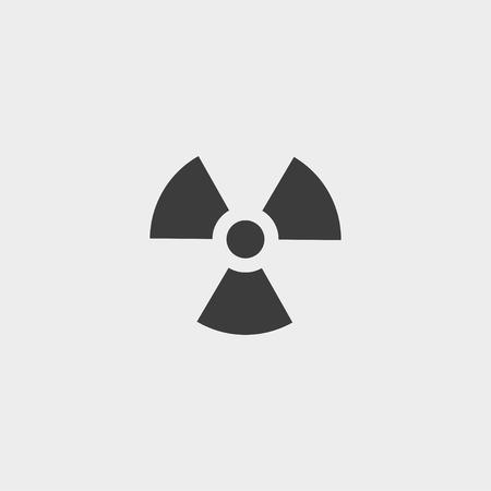 radium: Radiation  icon in a flat design in black color. Vector illustration Illustration