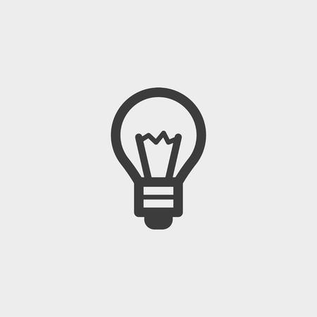 scriibble: Lightbulb icon in a flat design in black color. Vector illustration