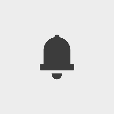 ring tones: Bell Icon in a flat design in black color. Vector illustration eps10 Illustration