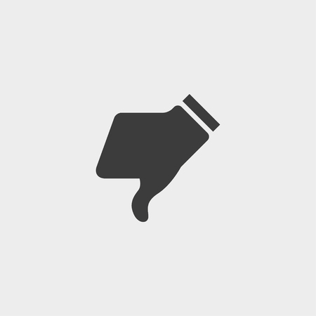 thump: Thump down icon in a flat design in black color. Vector illustration