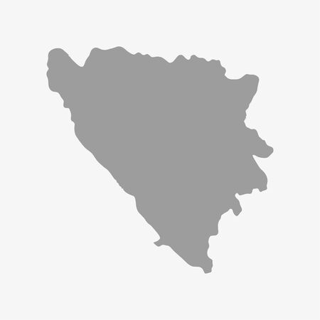bosna and herzegovina: Bosnia and herzegovina map in gray on a white background