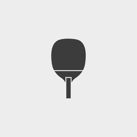 racquetball: icono de tenis de mesa en un diseño plano en color negro. Vectores