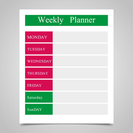 daily planner: Weekly planner, daily planner on a gray background