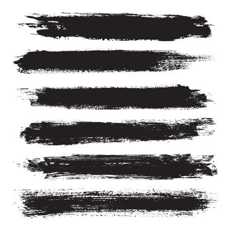 grunge banner: Grunge banner set. Black grunge banners. Vector illustration