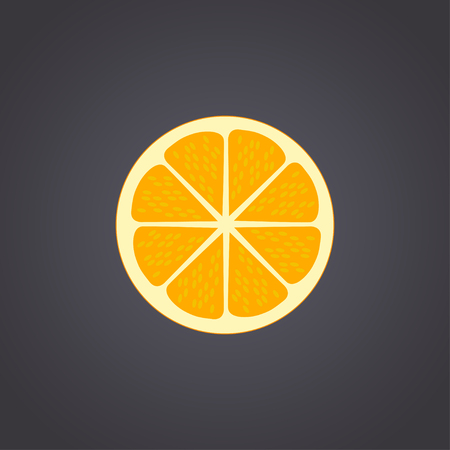orange cut: Orange cut in half. Citrus isolated on black background