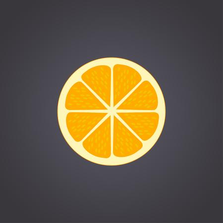 mandarins: Orange cut in half. Citrus isolated on black background