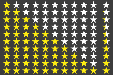 good judgment: Simple star rating. With outlines makes the stars pop out from background