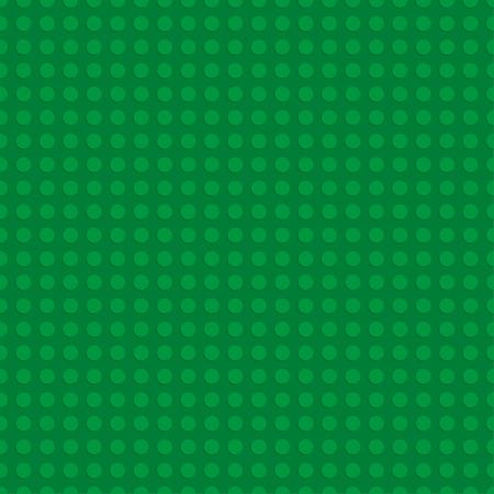 Green plastic construction plate. Seamless pattern background. Vector illustration 일러스트