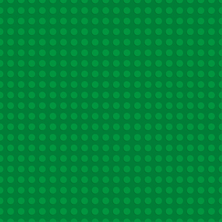 Green plastic construction plate. Seamless pattern background. Vector illustration Vettoriali