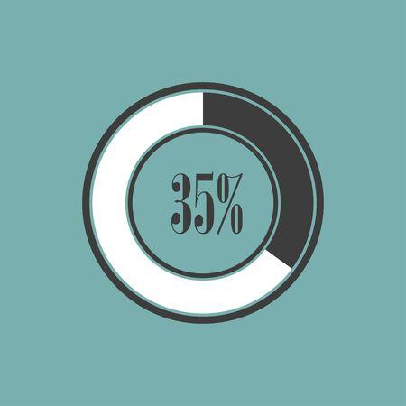 graficas de pastel: Round element of infographics in pie charts. Vector illustration