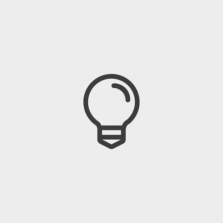 Lightbulb  icon in a flat design in black color.