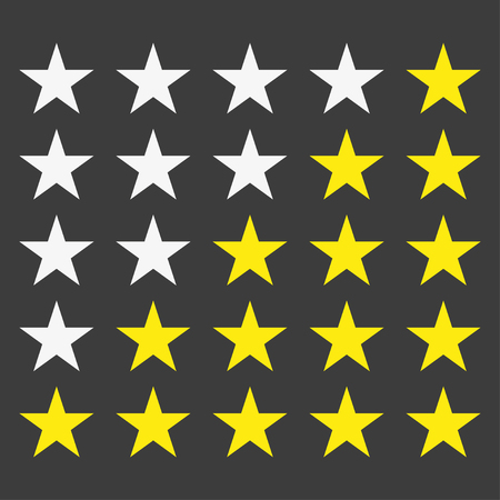 star rating: Simple star rating. With outlines makes the stars pop out from background
