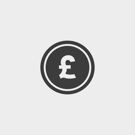 money pound: Money pound icon in a flat design in black color.