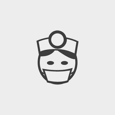 healer: Doctor icon in a flat design in black color.