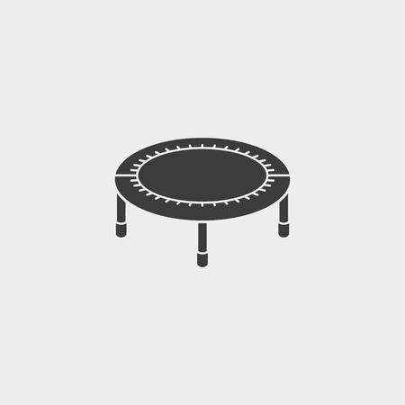 黒い色で平らな設計でベッド魚アイコンをバウンス  イラスト・ベクター素材