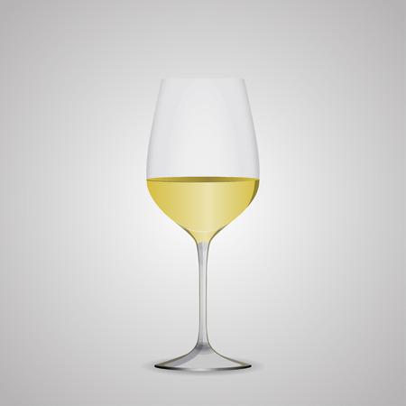 white wine: Wine glasses white wine. Illustration