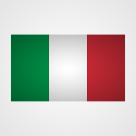 flagged: Italy flag on a gray background. Vector illustration Illustration