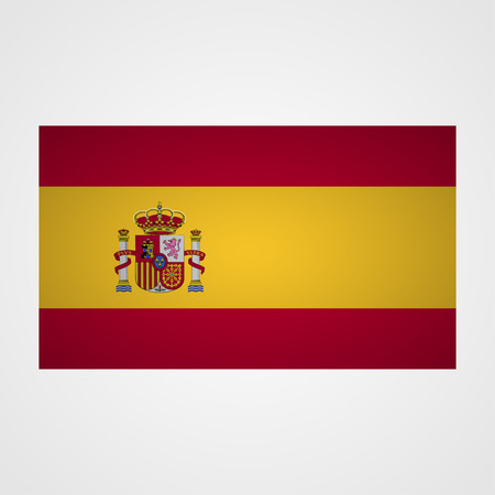 arms trade: Spain flag on a gray background. Vector illustration