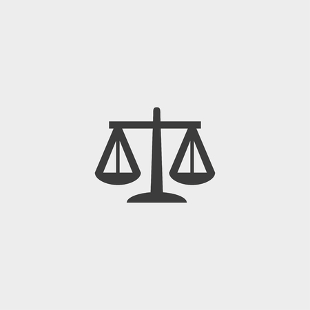 injustice: Libra  Icon in a flat design in black color. Illustration
