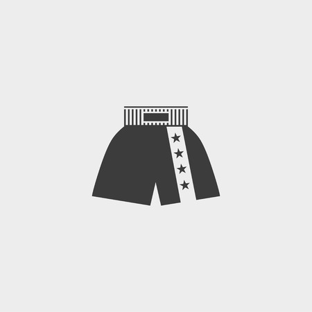 boxer shorts: boxer shorts icon in a flat design in black color.