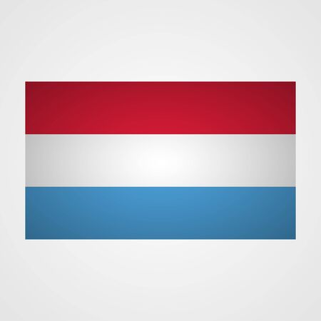 all european flags: Luxembourg flag on a gray background. Vector illustration