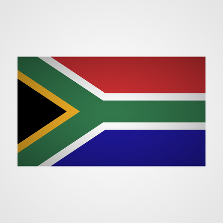 south africa flag: South Africa flag on a gray background. Vector illustration Illustration