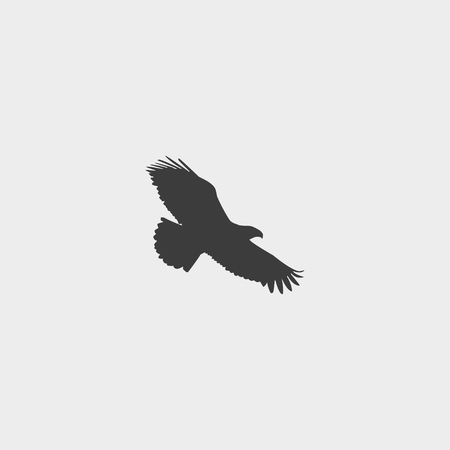 goshawk: Eagle icon in a flat design in black color. Vector illustration eps10 Illustration