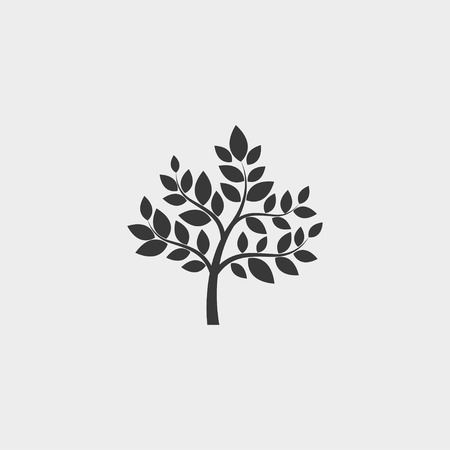 treetop: Tree icon in a flat design in black color. Vector illustration eps10 Illustration