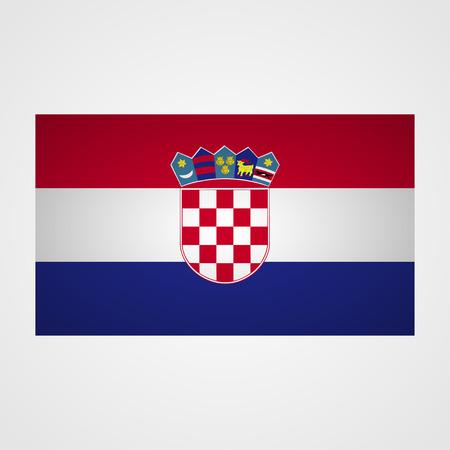 bandera croacia: Croatia flag on a gray background. Vector illustration Vectores