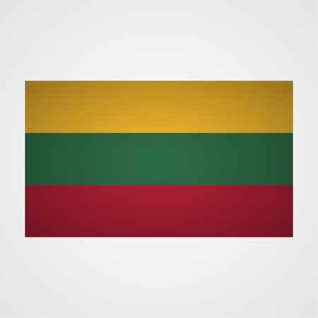 all european flags: Lithuania flag on a gray background. Vector illustration
