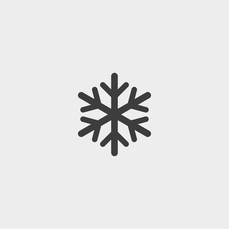 lightweight ornaments: Snowflake icon in a flat design in black color. Vector illustration eps10