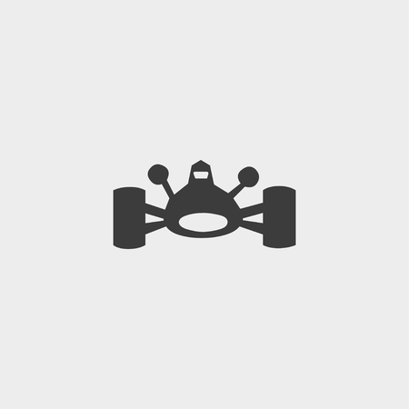 bolide: Bolide icon in a flat design in black color. Vector illustration eps10