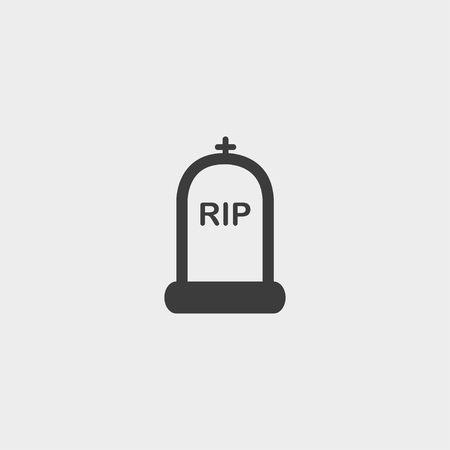 rip: RIP Icon in a flat design in black color. Vector illustration Illustration
