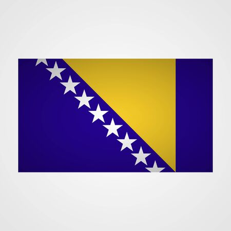 bosnia and  herzegovina: Bosnia and Herzegovina flag on a gray background. Vector illustration