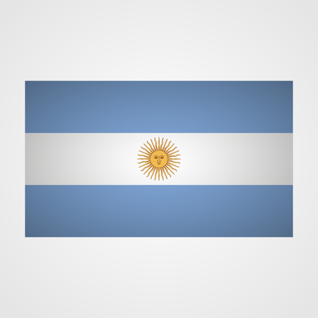 proportional: Argentina flag on a gray background. Vector illustration