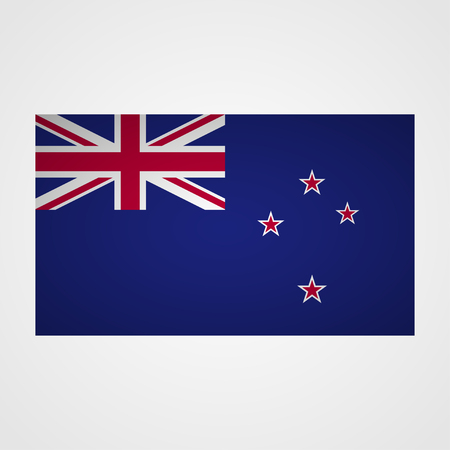 crux: New Zealand flag on a gray background. Vector illustration