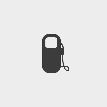 unleaded: Gas station icon in a flat design in black color. Vector illustration Illustration