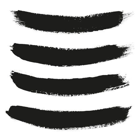smears: Black ink stroke. Collection of black smears. Vector illustration