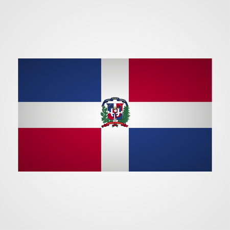 dominican republic: Dominican Republic flag on a gray background. Vector illustration
