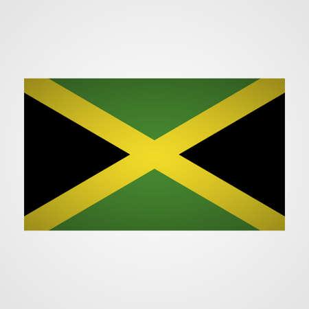 flagged: Jamaica flag on a gray background. Vector illustration
