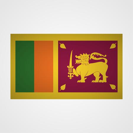 sri: Sri Lanka flag on a gray background. Vector illustration