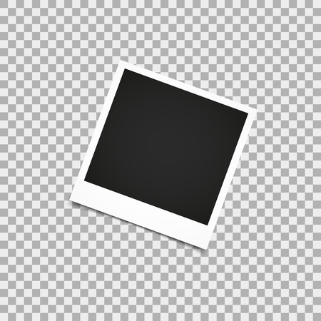 feature films: Photo frame retro with shadow. Vector illustration