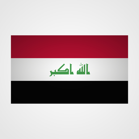 middle east war: Iraq flag on a gray background. Vector illustration