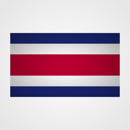 bandera de costa rica: bandera de Costa Rica en un fondo gris. ilustraci�n vectorial